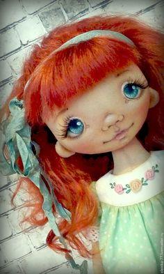 Купить Маринка. Текстильная кукла - рыжий, кукла ручной работы, кукла, кукла в подарок