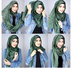 Looking for ideas on how to wear hijab elegantly? Or just a Simple Hijab Tutorial? Or perhaps you want tips to style hijab for a beautiful look? Well, we understand that Hijab fashion is at its peak these days. Such questions are on every girl's mind. Islamic Fashion, Muslim Fashion, Hijab Fashion, Modest Fashion, Simple Hijab Tutorial, Hijab Style Tutorial, How To Wear Hijab, Hijab Wear, Turban Hijab
