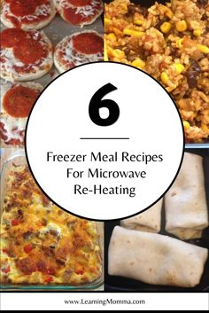 These homemade freezer meals are all cooked before freezing for microwave reheating in individual portions. Cook in bulk and make freezer meals for a month! Microwave Freezer Meals, Individual Freezer Meals, Freezer Friendly Meals, Make Ahead Freezer Meals, Microwave Recipes, Freezer Cooking, Meals For One, No Cook Meals, Easy Meals
