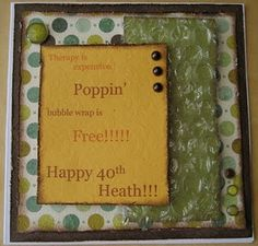 Bubble wrap card