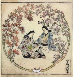 31.jpg (1500×1587)    Хисикава Моронобу — японский художник и гравёр, один из крупнейших представителей стиля укиё-э, начиная с 70-х годов XVII столетия.