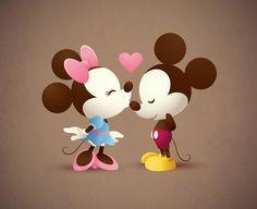 Mickey & Minnie - The Kiss | A kawaii Mickey and Minnie show… | Flickr