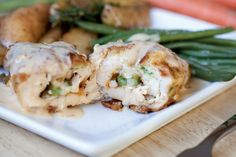 Everyday Gourmet Recipe: Asparagus Chicken Cordon Bleu, just make sure your crackers sprinkled on top are GF