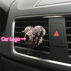 Logo car perfume Air conditioner Outlet perfume automobile decoration Car Air Freshener Car Styling Perfumes 100 Original