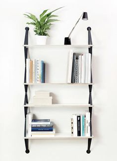 Bookshelves inspired by a backpack. Cool concept..I'd be a little worried about sturdiness however.