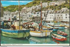 Outer Harbour, Polperro, Cornwall, 1970 - John Hinde Postcard