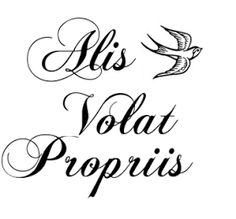 Alis Volat Propriis. She flies with her own wings.