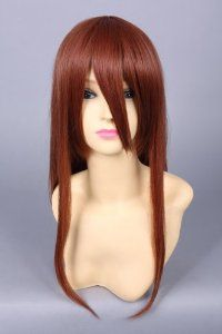 Cosplay Wig Red Brown 60cm 24 inch Cosplay Wig Fashion Girls and Boys Anime Wig Party Wig Gothic Lolita Wig Cosplay Wig Long Wigs