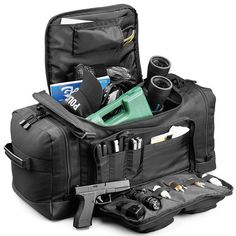 An all-purpose bag with tons of pockets to hold your gear. 900 denier polyester construction G shield zipper pulls x x Waterproof bottom Larg. Survival Card, Pistol Case, Medical Bag, Range Bag, Combat Gear, Tactical Bag, Go Bags, Blue Line, Bag Organization