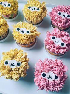 Alpacas cupcake