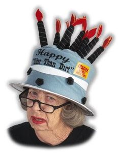 Older Than Dirt Birthday Hat Apparel Costume Hats Cake Funny Halloween