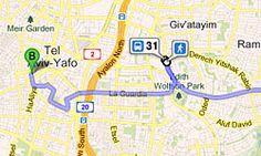Bus- und Bahnverbindung in Israel ermitteln