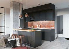 Un appartement scandinave et masculin à Minsk
