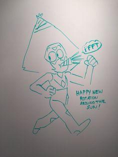 Peridot New Year wish by Steven Universe storyboard artist Lauren Zuke !