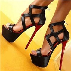 Extraordinary Cut-Outs PU Platform Sandals
