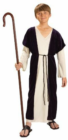 Shepherd Child Costume Size Large 12-14 by Forum Novelties. $22.62. Large 12-14. polyester. Includes robe, under robe, and belt. Does not include cane or shoes.