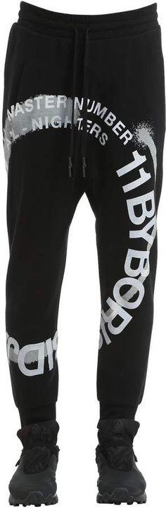 11 By Boris Bidjan Saberi Wheel Printed Cotton Jersey Sweatpants Mens Athletic Pants, Printed Cotton, Sweatpants, Prints, Black, Fashion, Sweat Pants, Moda, Black People