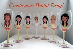 Hey, I found this really awesome Etsy listing at https://www.etsy.com/listing/208257822/personalized-wine-glasses-bridesmaid