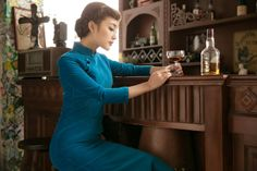 1930 Full Cotton Placket High Collar Traditional Cheongsam Gown Qipao - Fall / Winter
