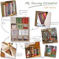 Room Storage Ideas I put some shelves just above my sewing table to store my sewing essentials, like scissors, thread, needles, and many other accessories.Essential Essential or essentials may refer to: