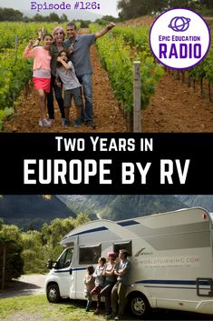 [Travel Podcast] EER126: Family RV Travel in Europe with Kids - Meet Jessica and Will Suero. They are traveling in an RV in Europe with a teen and a tween while building a business. Living in a motorhome in Europe while working and schooling is a challenge. In this episode, we discuss how they manage motorhome travel in Europe, including working, schooling, parenting, and gear. | Campervan in Europe | Homeschooling in France, Croatia, Slovenia, Spain, Morocco, Germany, Switzerland