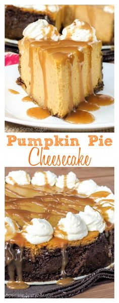 Pie Cheesecake Pumpkin pie meets cheesecake in this ultra-creamy, perfectly spiced, pumpkin cheesecake!Pumpkin pie meets cheesecake in this ultra-creamy, perfectly spiced, pumpkin cheesecake! Spiced Pumpkin, Pumpkin Recipes, Pie Recipes, Dessert Recipes, Pumpkin Pumpkin, Pumkin Pie, Fall Desserts, Delicious Desserts, Coconut Dessert