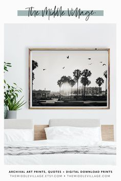 Venice Beach Palm Trees Print DOWNLOADABLE wall art printable  Downloadable Prints Venice Beach Palm. Interior Styling Art Prints by  The Middle Village