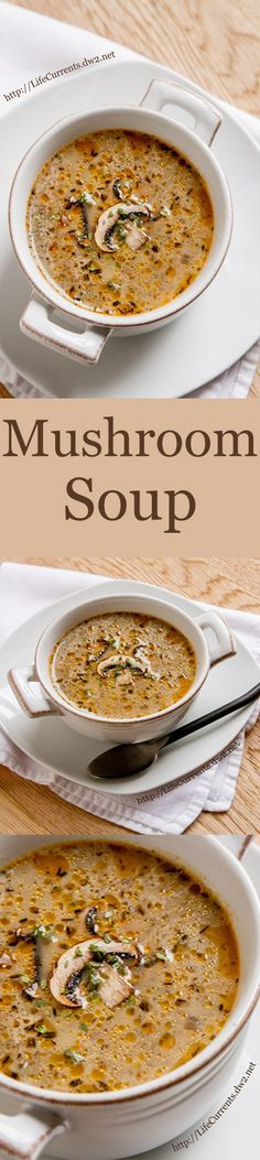 Homemade Mushroom Soup: a great comforting soup that's sure to please all the soup lovers in your family. Pin now to make soon!