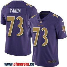 Men's Baltimore Ravens #73 Marshal Yanda Purple 2016 Color Rush Stitched NFL Nike Limited Jersey
