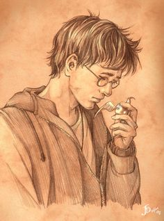 """A place for Harry Potter Art. ~ (since 1/12/13) ~// We track """"hpotterfanart"""" and """"harry potter fan... Harry James Potter, Harry Potter Universal, Harry Potter Books, Rowling Harry Potter, Harry Potter Fan Art, Harry Potter World, Albus Dumbledore, Deathly Hallows, Mischief Managed"""