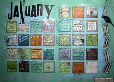 Art Calendar - January completed