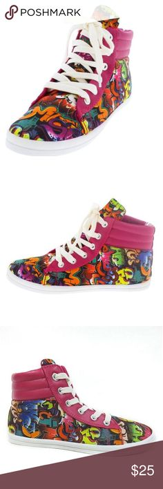 NIB Graffiti Hi-Top Sneaker NIB Graffiti Hi-Top Sneaker from Bamboo, Size 9 Shoes Sneakers