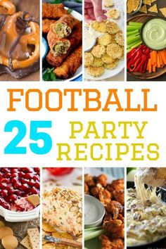 A collection of appetizers and sides that are perfect to eat while watching the big game. These party recipes are delicious and sure to please your crowd.