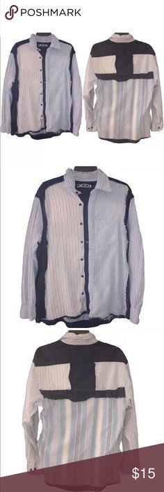 00ed91dbac4 FIZZ Blue Multi Stitched Button Pocket Shirt Large Men s FIZZ Blue Multi  Stitched Pattern Design Button Pocket Shirt Large Great condition fizz  Shirts ...
