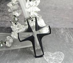 Crystal Cross Rear View Mirror Suncatcher by joolrylane on Etsy, $29.00