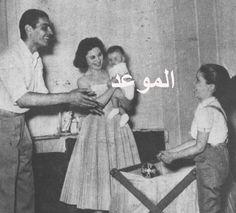 مع ابنهما طارق ونادية ذوالفقار