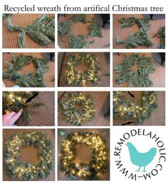 Another fabulous idea!!! Reuse an artificial Christmas tree. ..keep em out of the land fill :)