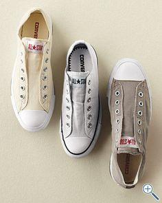 Converse Chuck Taylor slip sneakers...so cool! Garnet Hill...$55