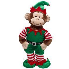Elf Cheerful Monkey Build A Bear