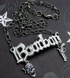 So Cool!!! Bourbon Pirate Necklace from sassybellewares.etsy.com #dteam #bourbon #pirate #vintage #necklace