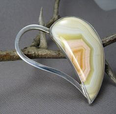"Moctezuma Agate heart brooch...I am not a ""heart"" person, but I really love this one."