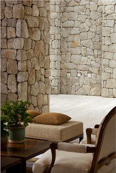 :: Havens South Designs :: loves the elegance of this stacked stone. Someone has an excellent stone mason!