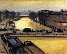 'Inondation à Paris', huile sur toile de Albert Marquet (1875-1947, France)