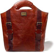 Sandra Cadavid Giuliana Brown Leather Tote Bag ($581) ❤ liked on Polyvore