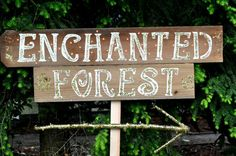 Hey, I found this really awesome Etsy listing at https://www.etsy.com/listing/234198408/rustic-chic-wedding-signs-enchanted Enchanted Forest Theme, Enchanted Forest Decorations, Enchanted Wood, Enchanted Evening, Enchanted Garden, Prom Decor, Barn Wedding Decorations, Woodland Wedding, Rustic Theme Party