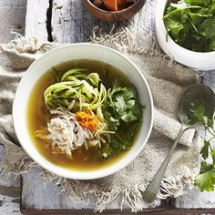 Everyone seems to be catching something in my house this week !  This immunity broth by @the_art_of_whole_food  will do the trick .. With added shredded chicken breast  zucchini noodles  coriander and extra fresh grated turmeric  Food by @mandysinclair.food  styling by me @janeecollins  and photography by @omidphotography  #food #foodie #foodfeed #f52grams #feedfeed @thefeedfeed #starvingfoodseeker #sydneyeats #sydneyfood #sydneyfoodie #fresh #yummy #healthyfood #healthyeating #eatfamous…