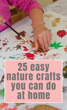 25 easy nature crafts that you can do with materials from your garden – perfect for combining some outdoor activity with a fun craft. # garden activities for kids nature crafts 25 easy nature crafts kids can do at home Easy Craft Projects, Crafts To Do, Crafts For Kids, Backyard For Kids, Backyard Games, Baby On A Budget, Craft Online, Leaf Crafts, Family Crafts