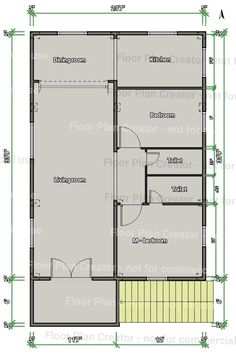 Simple One Bedroom House Plans Beautiful 27 42 Floor 2bhk House Plan, Square House Plans, Small House Floor Plans, Simple House Plans, Duplex House Plans, Simple House Design, Bungalow House Plans, 20x30 House Plans, 1 Bedroom House Plans