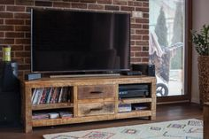 Rustique Brick, Flat Screen, Interior, Rustic, Blood Plasma, Indoor, Flatscreen, Bricks, Interiors