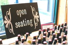 Wedding Signs  Table Top Open Seating Sweet Love by shannon82484, $20.00